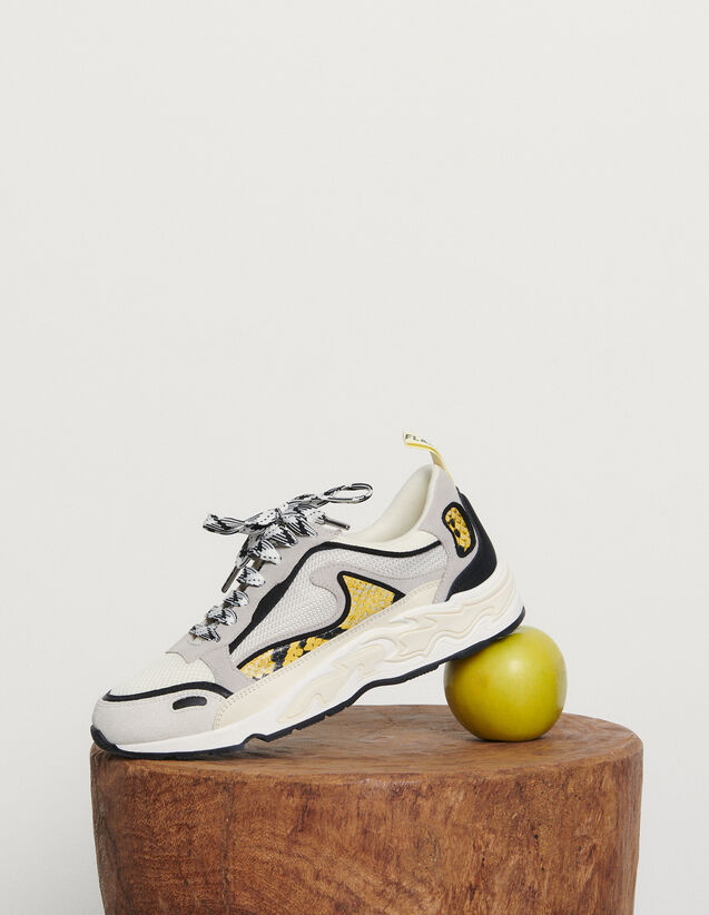 Flame trainers : New Summer Collection color yellow python