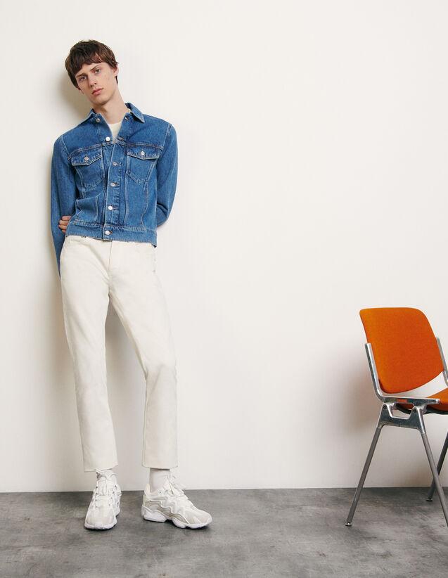 Classic faded denim jacket : New Summer Collection color Blue Vintage - Denim