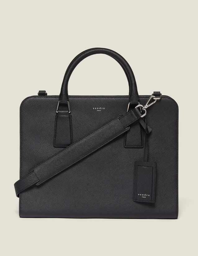 Saffiano Leather Briefcase : Briefcases color Black