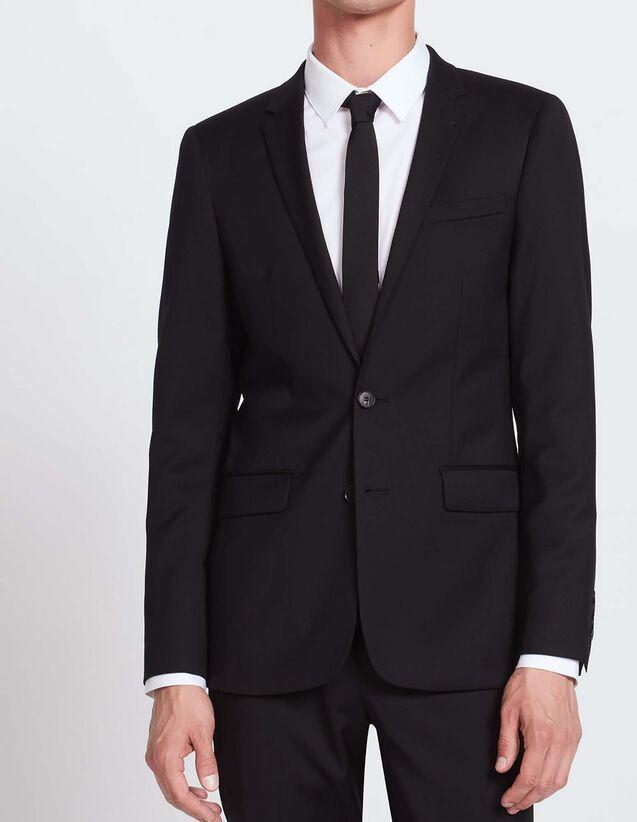 Slim fit woollen jacket : All Selection color Black