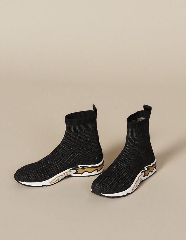 Flame Sock Trainers : New In color black/gold