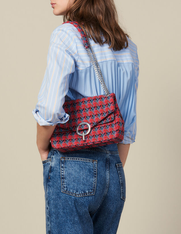 Yza Tweed Bag : All Bags color Red