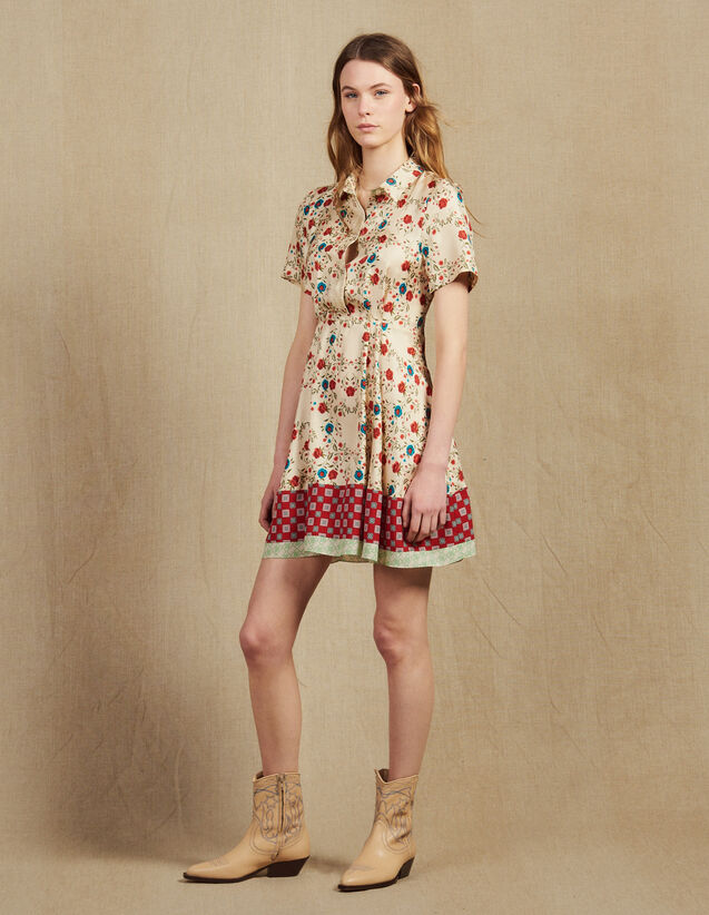 Printed Shirt Dress, Opening At The Back : LastChance-FR-FSelection color Multi-Color