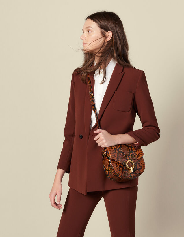 Double-breasted suit jacket : Blazers & Jackets color Tobacco Brown