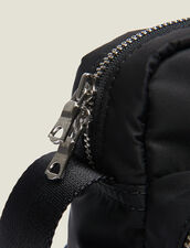 Quilted Nylon Saddlebag : All Leather Goods color Black