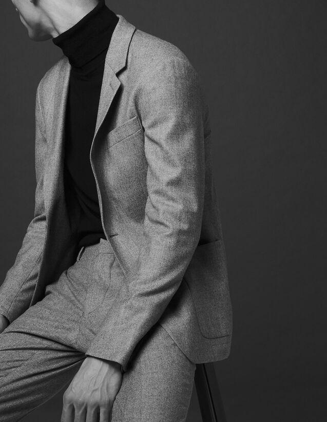 Flannel jacket - Super 130's : All Selection color Bluish Grey